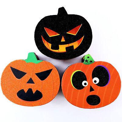 Decorative Boxes Wholesale (Halloween Pumpkin Shaped Gift Treat Box Jack o'lantern Home Decor Lot of)
