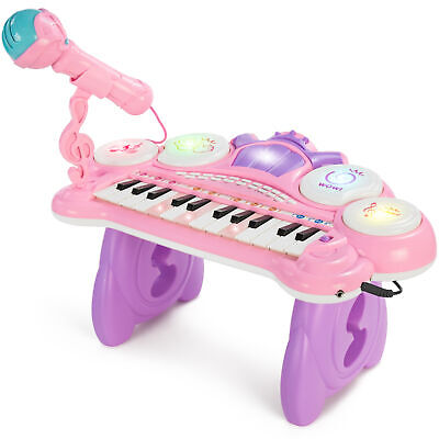 BCP 24-Key Kids Musical Electronic Keyboard Piano w/ Drums, Microphone,
