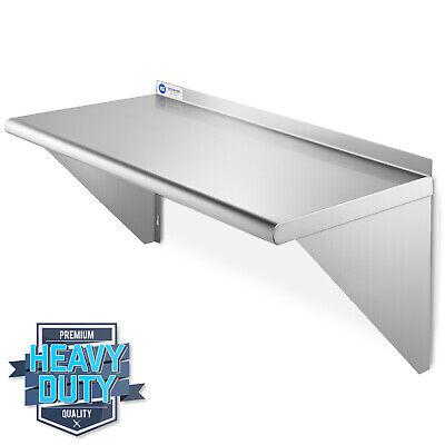 Nsf Stainless Steel 12x24 Wall Shelf 16ga Commercial Kitchen Restaurant Shelving