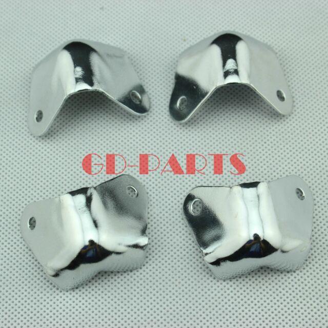 4xchrome Metal Guitar Cabinet Guard Corner 2-leg Speaker Edge ...