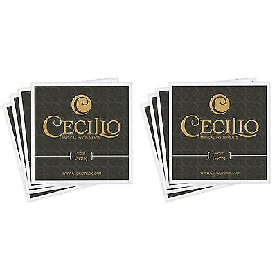 Cecilio Size 4/4 - 3/4 Violin Strings 2 Sets ~8 Strings