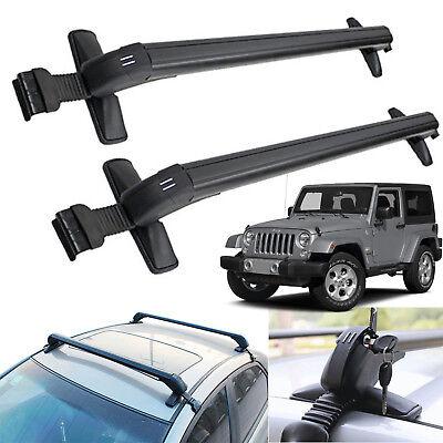For Jeep Wrangler Sedan Car Roof Rack No Rails Cross Bar Clamp w/Anti-theft Lock