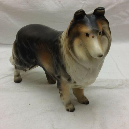 Vintage Enesco Collie Dog Lassie Figurine Porcelain Made in Japan