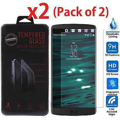 2-PACK Premium Clear Slim Tempered Glass Screen Protector for LG V10