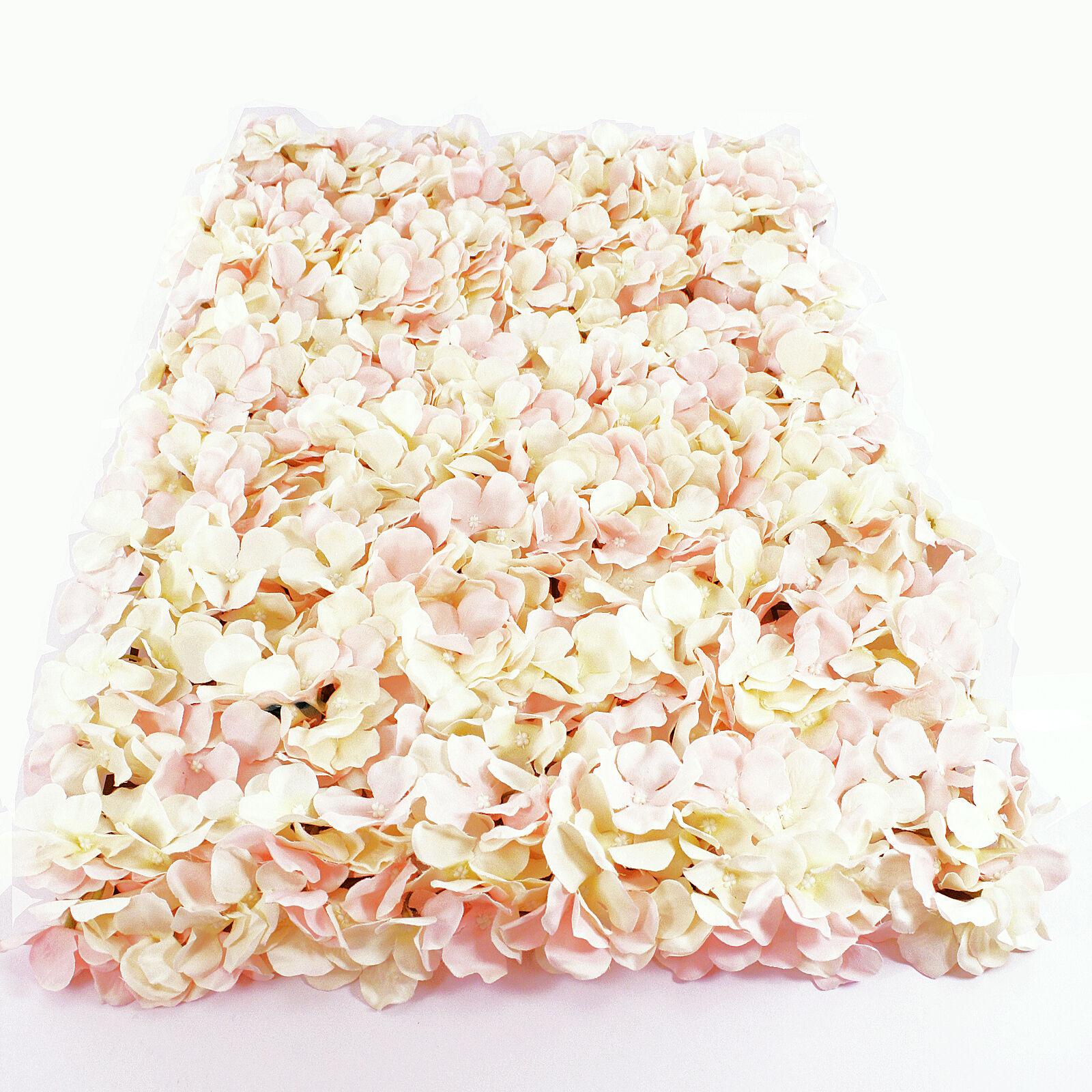 Fiori Di Ortensia Secchi dettagli su fiore placca da parete 40cm x 60cm rosa artificiale ortensia