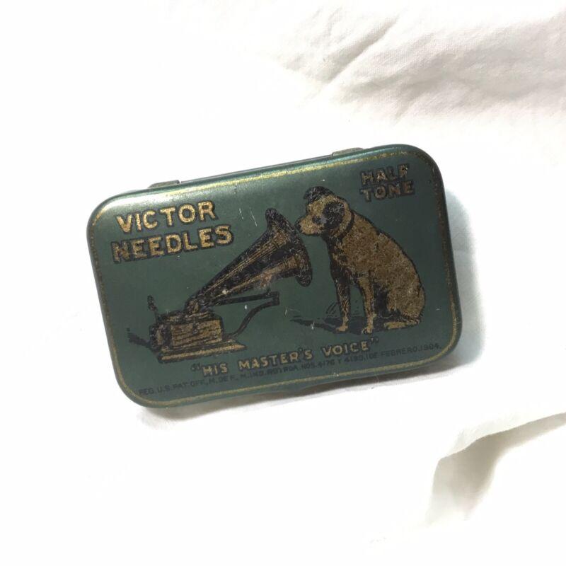 Victor Victrola Phonograph HALF Tone 500 Needle Tin