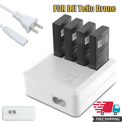 4 in 1 Multi Battery Charger Hub US Plug For DJI Tello Drone RC Quick Charging