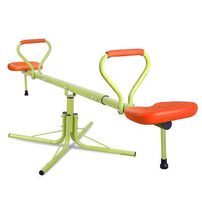 Playground Seesaw (360 Degree Rotating Kids Seesaw Playground Equipment Indoor Garden Game)