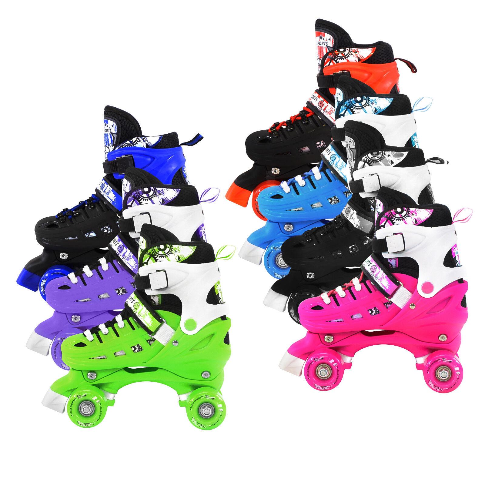 Adjustable Quad Roller Skates For Kids Size 135 Junior To 9 Adult