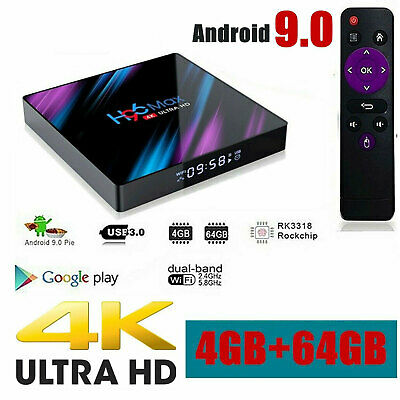 H96 MAX Smart-TV-BOX Android 9.0 4G RAM 64 GB Quad Core 1080p 4K LED-Bildschirm online kaufen