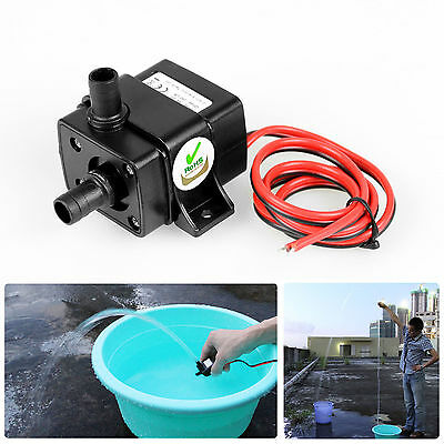 Mini DC12V 3m 240L/H Brushless Motor Submersible Water Pump Home RA