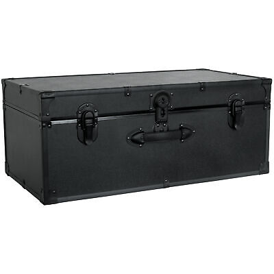 """30"""" Trunk with Lock Footlocker Trunk Lock End Table Chest Dorm Room Storage"""