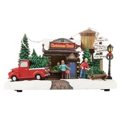 HOLIDAY TIME CHRISTMAS VILLAGE HOUSE - LED MUSICAL HOLIDAY TREE LOT
