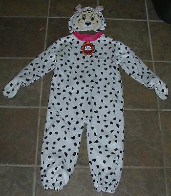 M & S DISNEY Dog Puppy DALMATIAN Fancy Dress Halloween Kids COSTUME 2/4 - Puppy Fancy Dress