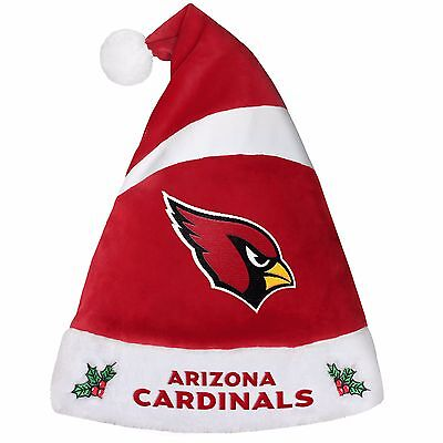 Arizona Cardinals Team Logo Holiday Plush Santa Hat NEW! Christmas 2016