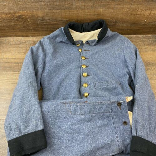 Civil War Reenactment Artillery Blue Jacket & Pants RM-101 Fast Shipping
