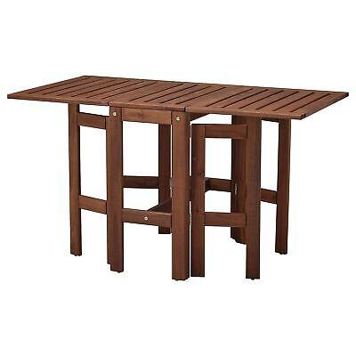 Mesa Plegable De IKEA para Exterior, Braun Jardín Mesa Terraza, Mesa, Jardín