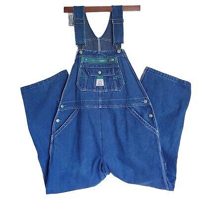 Vintage Overalls & Jumpsuits Liberty Blue Denim Bib Carpenter Overalls Size 16 Regular Medium Wash $34.95 AT vintagedancer.com