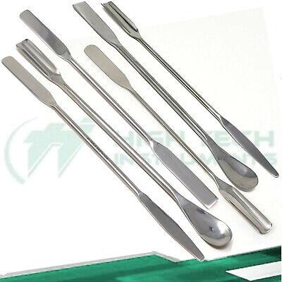 6 Pcs Lab Spatula Mini Micro Spoon Set Dental Medical Pharmacy Stainless Steel