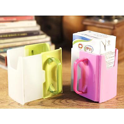 Baby Toddler Self-Help Drink Juice Milk Box Holder Cup Adjustable Handles Supply