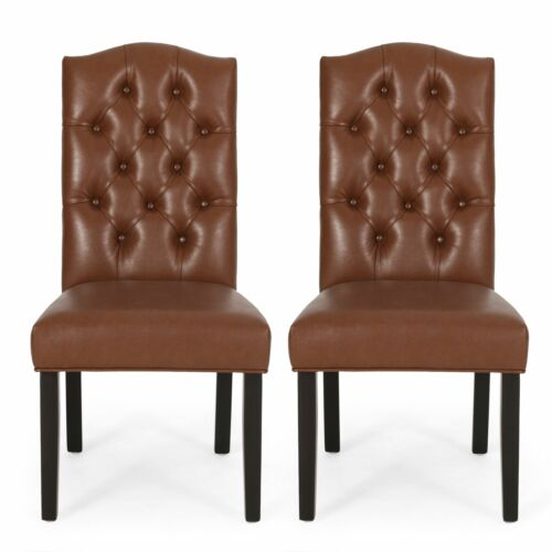 Winfough Contemporary Tufted Dining Chairs, Set of 2 Chairs