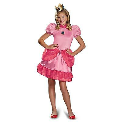 Super Mario Bros - Princess Peach Child Costume - New - Baby Peach Mario