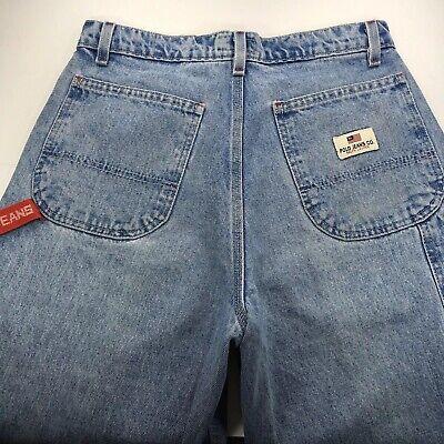 Vintage Ralph Lauren Polo Carpenter Blue Jeans Mens 29 30x30 Denim Light Wash Carpenter Denim Blue Jeans