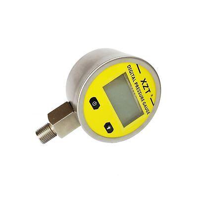 Xzt Digital Hydraulic Pressure Gauge 2.4 3600psi -14npt-base Entry