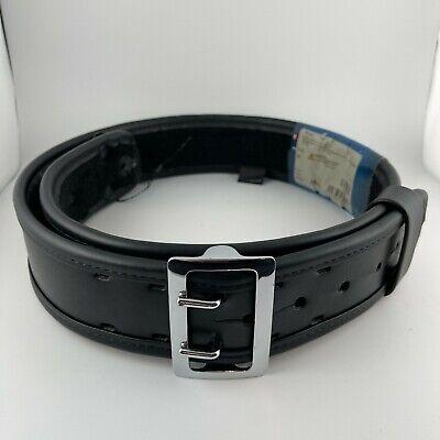 Bianchi 7960 Sam Browne Duty Belt Plain Black W Chrome Buckle 38 - 40