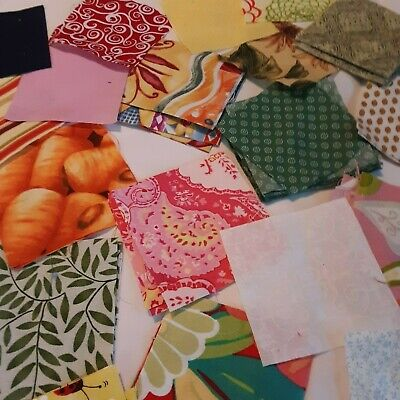 100 3-inch Squares, Many Repeats, 12 Singles, Quilting, Some Upcycled Cloth