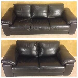 BONDED LEATHER COUCH + LOVESEAT FOR $120! DELIVERY AVAILABLE!