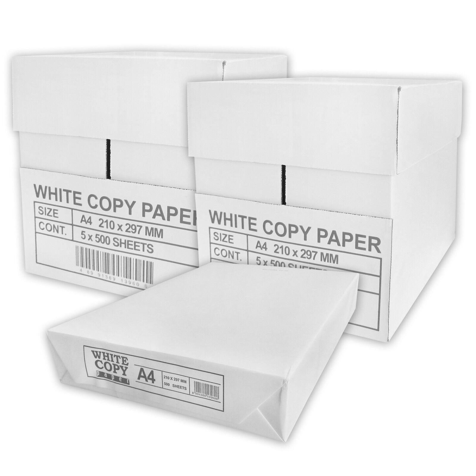 5000 Blatt Papier A4 weiß 75qm Kopierpapier Druckerpapier Laserpapier Faxpapier