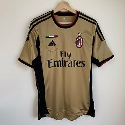 Adidas AC Milan 2013/14 Gold Third Soccer Football Jersey Small S