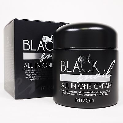 MIZON BLACK SNAIL All In One Snail Cream 75ml Anti-wrinkle Whitening Moisturize