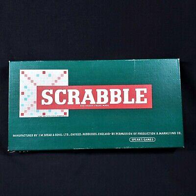 Vintage 1955 SCRABBLE-Spear's Games England Version-Complete Set In Original Box