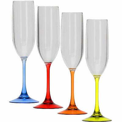 Camping Glas Trinkglas Acryl Gläser Sekt Glas Party Wein Kunststoff Glas Set