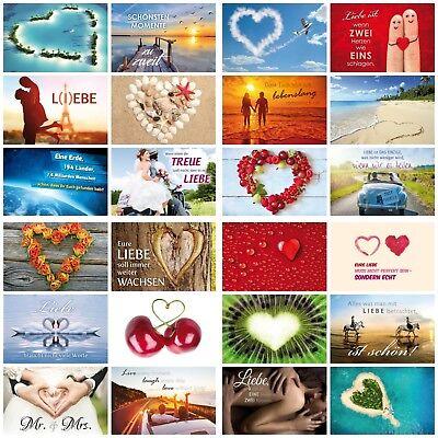 52 Wochen-Hochzeitsspiel: 52-er Postkarten-Set zum Thema Liebe & Hochzeit