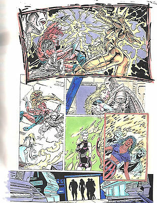 Clive Barker HYPERKIND #8 pg20 original hand-painted color guide art 1995 signed