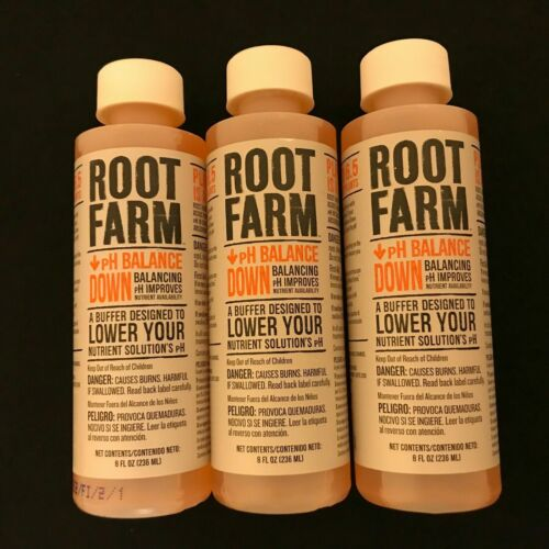 (3 Count) Root Farm Ph Balance Down for Hydroponic Plants 8 oz Each