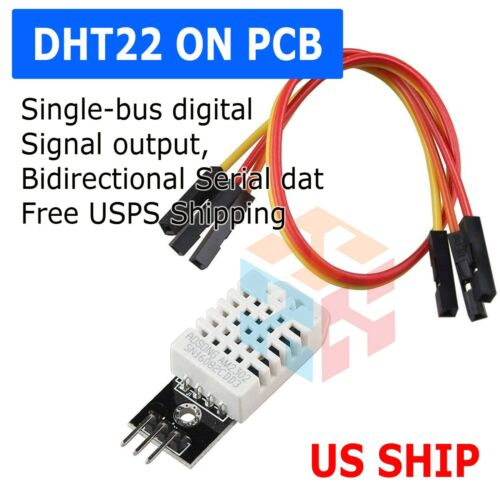 DHT22 Digital Temperature Humidity Sensor AM2302 Module + PCB Cable Arduino Q32