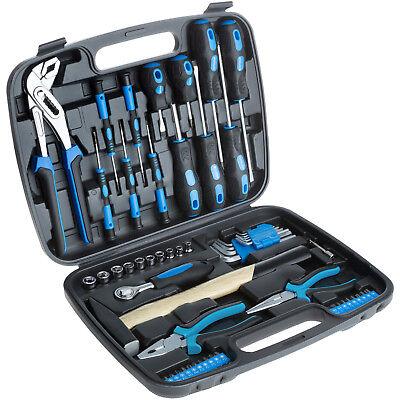 57 tlg Werkzeugkoffer mit Werkzeug Set Hammer Schraubendreher