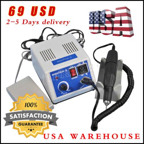 Dental Lab Unit Marathon III Electric Micromotor Polishg N3+35K RPM Handpiece US