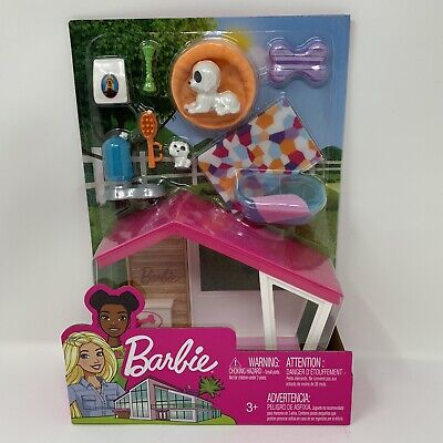 Barbie Puppies and Dog House Indoor Furniture Playset New