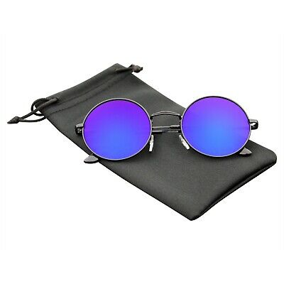 Round Sunglasses Vintage Mirror Lens New Men Women Fashion Frame Retro (Sunglasses Vintage Man)