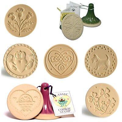 Brown Bag Designs Cookie Stamp - Celtic & Heart Patterns - Sugar &Shortbread Heart Sugar Cookies