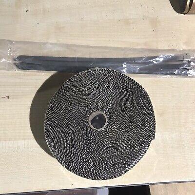 10m Titanium Exhaust Heat Wrap Manifold Downpipe High Temp Bandage Tape Roll UK