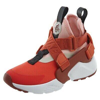 Nike Huarache City Mars Red Girl's Sz 4Y ()134)