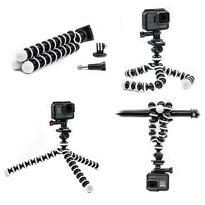 Octopus Flexible Tripod Mount Stand for GoPro Hero 8 7 6 5 4 3 Action Cam Go Pro