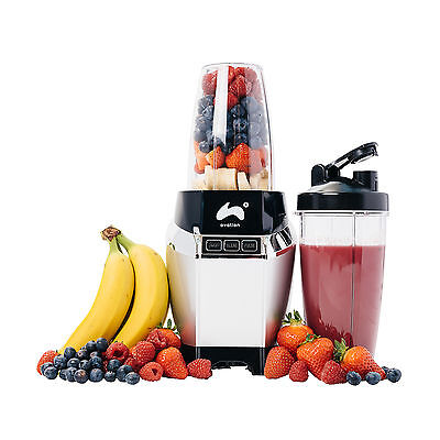 Ovation HT202 1000W Silver Genius Blender Mixer Smoothie Maker Multi-Function