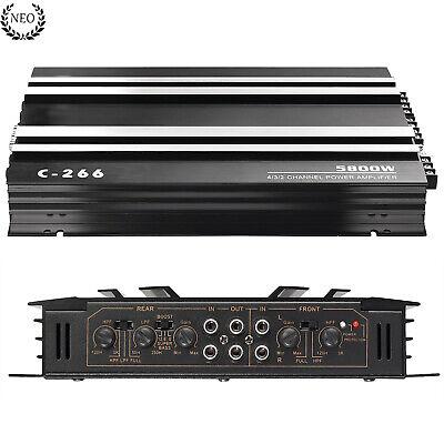 Audio Estéreo Amplificador de Potencia Coche 5800W 4 Canales Subwoofer 4 Ohm